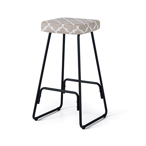 Bar Stool, Fabric High Stool Bench, Kitchen Breakfast Chair, 39cm 39cm 69.5cm ( Color : Black ) by Boyang