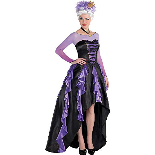 SUIT YOURSELF The Little Mermaid Ursula Costume Couture for Women, Size Small, Includes a Dress, a Crown, and a Necklace -