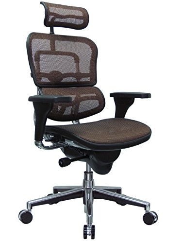 Eurotech Seating Ergohuman ME7ERG-ORANGE(N) High Back Mesh Managers Chair, Orange (Eurotech Mesh Ergohuman)