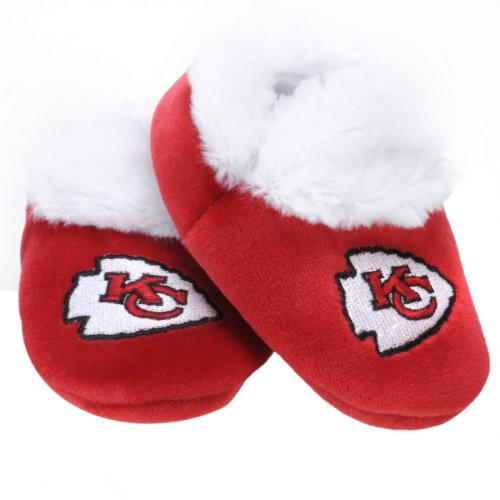 Kansas City Chiefs Logo Baby Bootie Slipper Medium