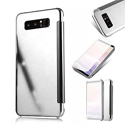 Galaxy Note 8 Cover,MingKun Samsung Galaxy Note 8 Funda de Cuero Flip Cover Carcasa Protectora de Carcasa con Soporte Plegable Caso