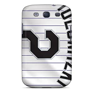 Samsung Galaxy S3 ShK7234mLTg Customized Colorful Colorado Rockies Image Shock-Absorbing Cell-phone Hard Covers -TimeaJoyce
