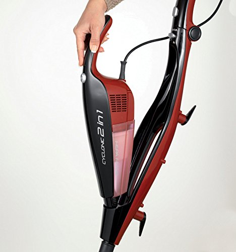Ariete 2764 - Aspirador escoba con cable Evo 2 en 1, color negro y rojo: Amazon.es: Hogar