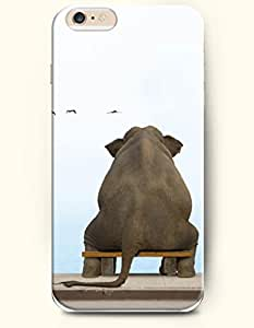 OOFIT New Apple iPhone 6 ( 4.7 Inches) Hard Case Cover - Elephant Sitting