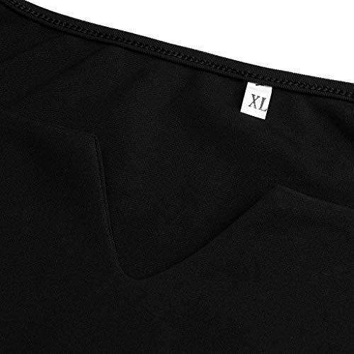 Womens Plus Size Summmer Short Sleeve Cold Shoulder Solid Camis T-Shirt Tops Perfect Winter-to-Spring (Black, XL) by Unknown (Image #7)