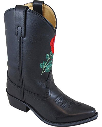 (Smoky Mountain Girls' Rosalito Western Boot Snip Toe Black 9.5 D)