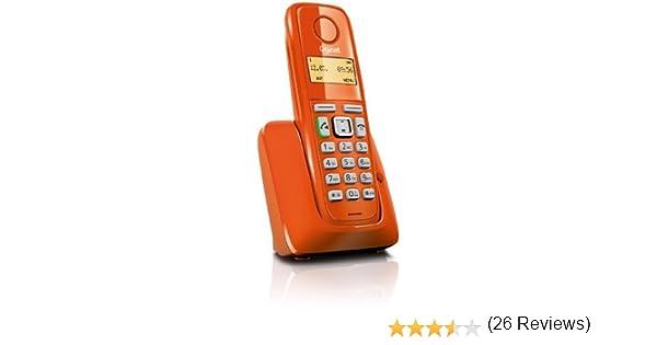 Gigaset A220 - Teléfono fijo, color naranja: Siemens: Amazon.es: Electrónica
