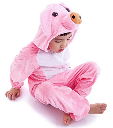 Astage Kids Animal Halloween Cosplay Onepiece Pajamas Outfit Homewear Robes Safari Costume ()