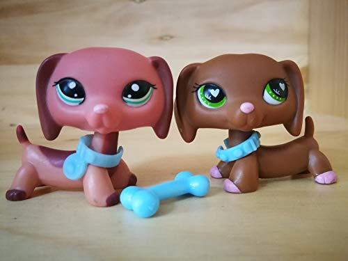 LPSDOG LPS Dachshund 2046 556 Pink Heart Dog Puppy Cartoon Figures Lot with Accessories Kids Boys Girls Collection Gift -