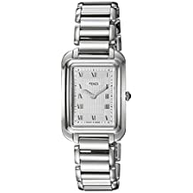 Fendi Women's 'Classico Rect' Swiss Quartz Stainless Steel Dress Watch, Color:Silver-Toned (Model: F701036000)