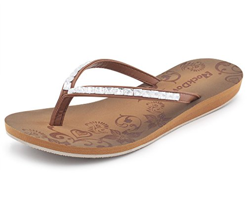 Image of Women's Rhinestone Thong Flip Flops w/Arch Support