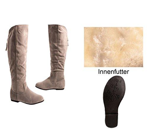 Elara - Botas de Material Sintético para mujer gris