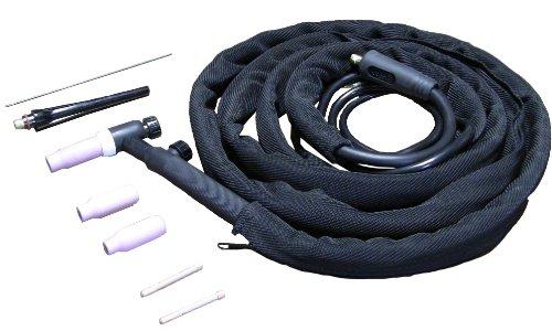 (Metal Man ACTT1 Air Cooled TIG 17-Volt Torch, Black)