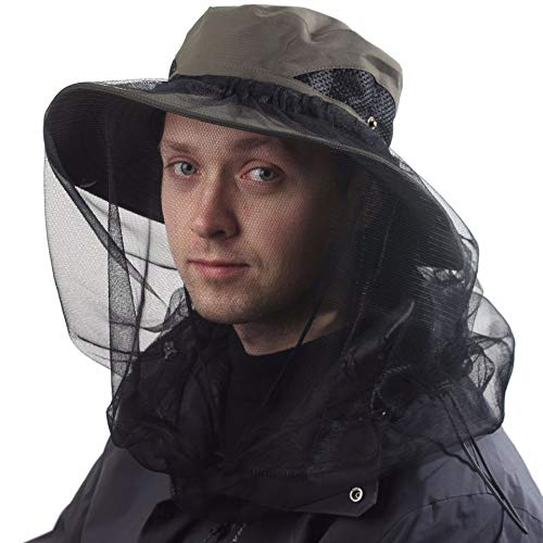 CAMOLAND Beekeepers Hat w/Removable Mosquito Head Net for Outdoors UV Protective OD