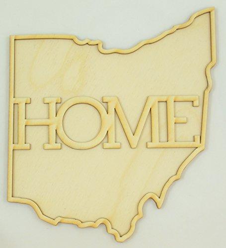 1 Pc, Medium 1/4 Inch Thick Ohio State Cutouts w/