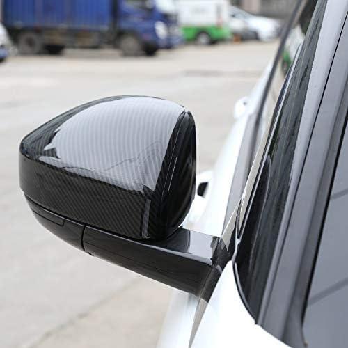 Shumo 2Pcs Garniture De Couvercle De Capuchon De R/étroviseur Lat/éral en Plastique De Style en Fibre Carbone pour Discovery Sport Range Rover Velar Image en Fibre De Carbone