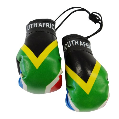 South Africa Country Flag Mini Boxing Gloves to Hang Over Your Automobile Mirror ... New