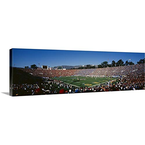 GREATBIGCANVAS Gallery-Wrapped Canvas Entitled Spectators Watching a Football Match in a Stadium, Rose Bowl Stadium, Pasadena, California by 90