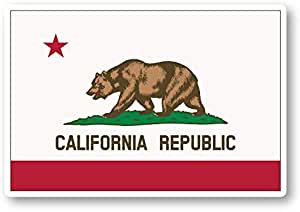 Stickers for LaptopsWater Bottles US State Stickers California Home State Outline