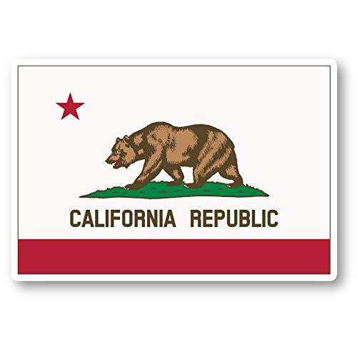 California State Flag Sticker California Stickers - Laptop Stickers - 2.5