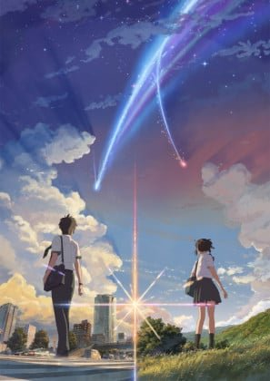 Kimi No Na Wa Your Name Us Textless Imported Movie Wall Poster