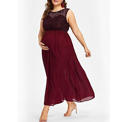Gusspower Vestido Premamá, Largo de Encaje de Mujer Embarazada, de Maternidad Apoyos de Fotografía Ropa Larga Maternidad y de Lactancia, XL-5XL: Amazon.es: ...