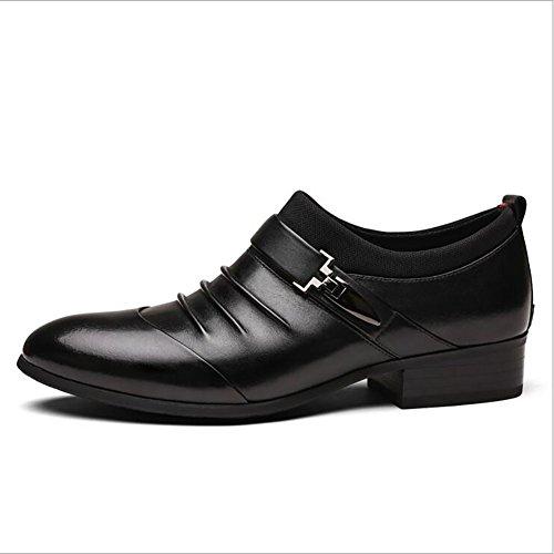 en Caoutchouc Mariage d'affaires Noir Cuir Travail Mocassins Banquet Chaussures Confortables Printemps Pointus en GFP Chaussures Cuir Bureau Chaussures Formel Automne en Semelle O7Bq74