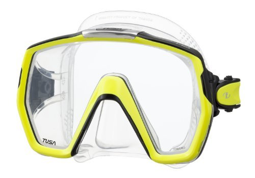 Tusa M1001 Freedom HD Scuba Diving Mask - Flash Yellow by Tusa by Tusa