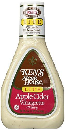 (Ken's Steak House Apple Cider Vinaigrette, Lite, 16 oz)
