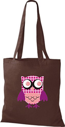 Shirtinstyle - Bolso de tela de algodón para mujer marrón - marrón
