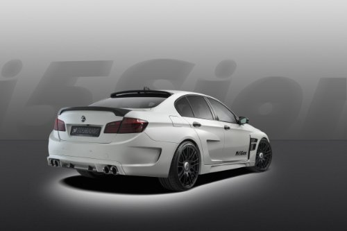 Hamann BMW M5 Mission Car Art Poster Print on 10 mil Archival Satin Paper White Rear Driver Side Studio View 36