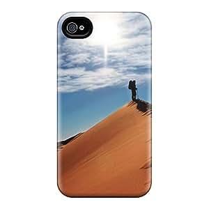 New Tpu Hard Case Premium Iphone 4/4s Skin Case Cover(desert Noname)