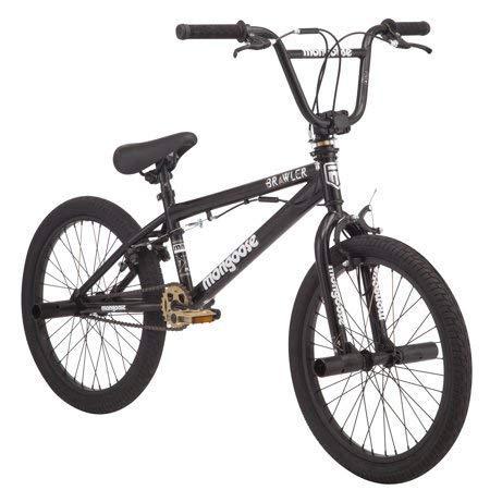 "Mongoose 20"" Brawler Freestyle Boys' BMX Bike, Black"