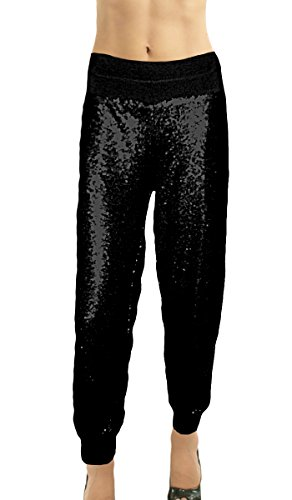Rhinestone Drawstring Pants - 5