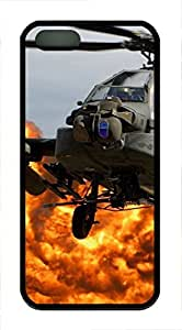 iPhone 5 5S Case Ah64 Apache Helicopter TPU Custom iPhone 5 5S Case Cover Black