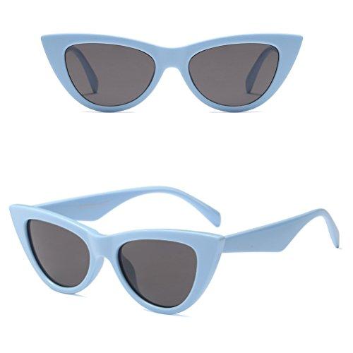 Yeux de avec Protection Blue à Cadre Lunettes Lunettes Étui Femmes Rétro Soleil Chat UV Classique Zhhlinyuan qwpxg4tw