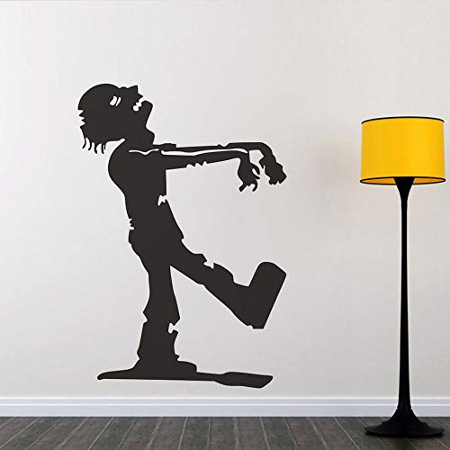 Scmkd Walking Zombie The Mummy Halloween Party Decals Wall Sticker for Kids Bedroom Living Room Home Decor Waterproof Wallpaper -