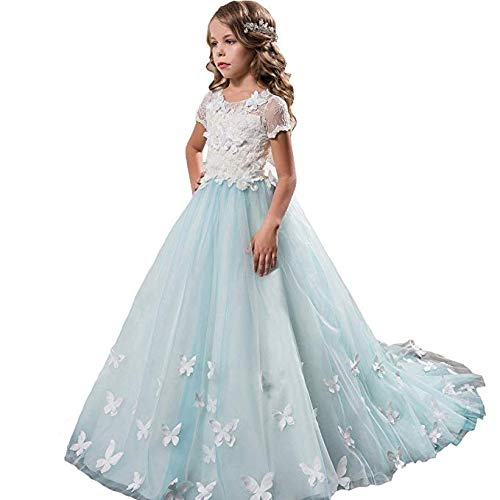 Sittingley Fancy Girls Pageant Light Blue Dresses 0-12 Year Old L Size -