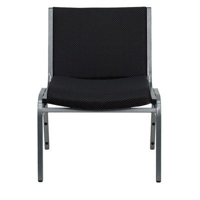 - Embroidered HERCULES Series 1000 lb Capacity Big And Tall Extra Wide Fabric Stack Chair With Ganging Bracket