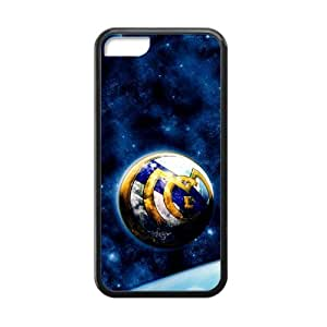 WXSTAR Fashion Real Madrid Club Custom Cases for iPhone 5C TPU (Laser Technology)