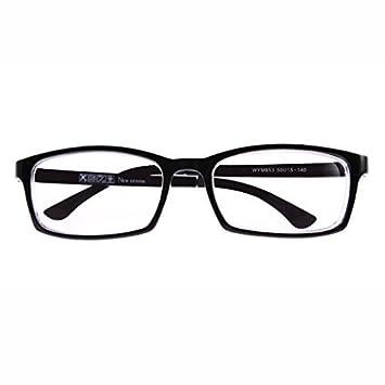 Amazon.com: 1 PR Black Frame Shortsighted Myopia Glasses w Case ...