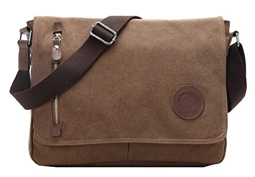 Mens coffee Messenger Bag Ainisi Canvas Fashion Black Crossbody 00 Shoulder New Casual Bags ZOqOd7