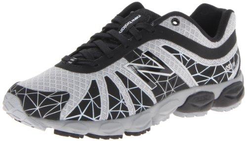 888098067965 - New Balance KJ890 Pre Lace-Up Running Shoe (Little Kid),Black/Silver,11 W US Little Kid carousel main 0