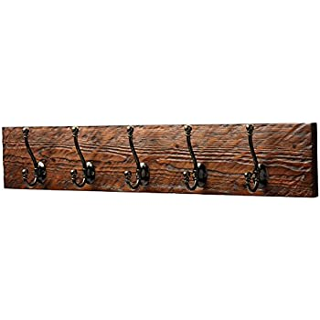 Amazon Entryway Rustic Style 40 Hook Wall Mount Wooden Coat Rack Awesome Wall Mounted Wood Coat Rack