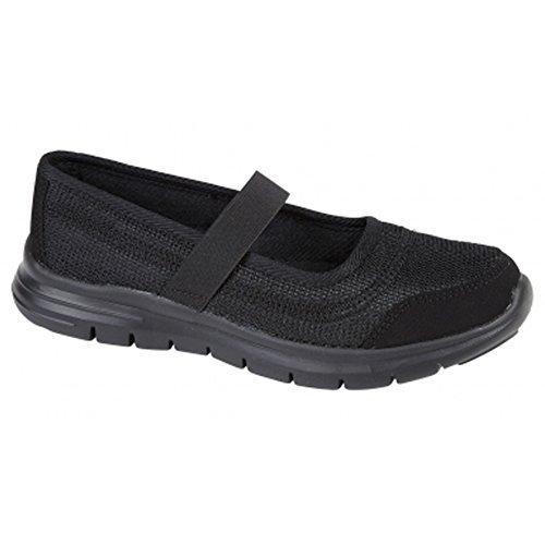 Sapphire TIENDA Mujer balsa Flexible CIERRE ADHESIVO ligeras transpirable Zapatos Para Caminar Zapatillas - negro, 5 UK / 38 EU: Amazon.es: Zapatos y ...