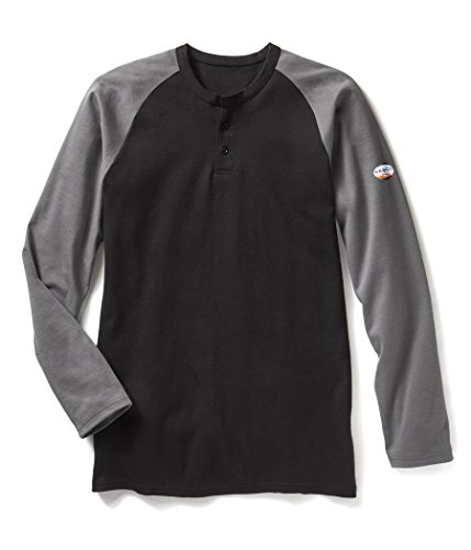 Rasco FR Gray/Black Two Tone Henley T-Shirt