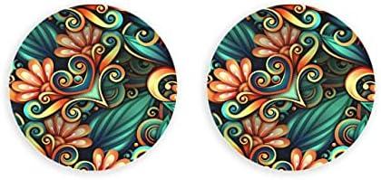 Vector abridor de adorno floral transparente coloreado 2 piezas abridor de botellas imán de nevera