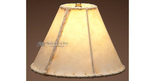 Amazon.com: southwestern Rawhide lámpara sombra 10