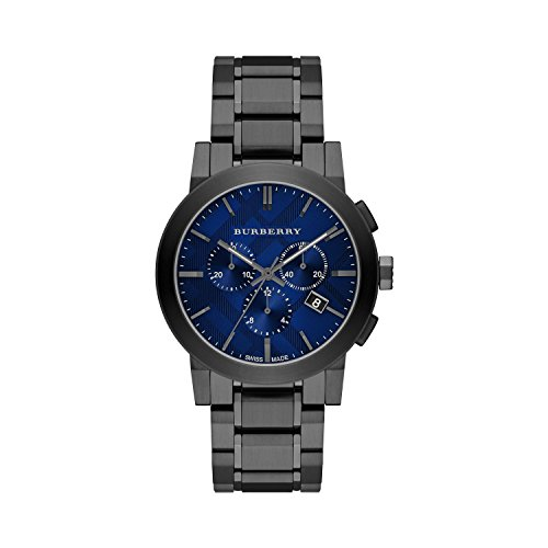 Burberry Men's Swiss Chronograph Gray Ion-Plated Stainless Steel Bracelet Watch 42mm BU9365