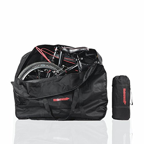 AMOMO Folding Bike Bag 14 inch to 20 inch Bicycle Travel Carrier Case Box Carry Bag Pouch Bike Transport Case by AMOMO (Image #9)